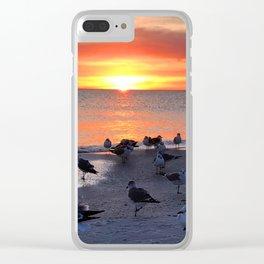 Shore Birds Clear iPhone Case