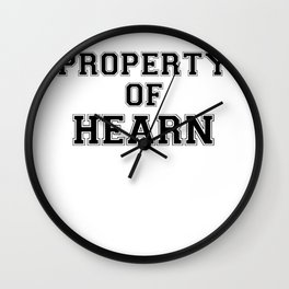 Property of HEARN Wall Clock