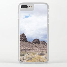 Desert Mountain California Clear iPhone Case