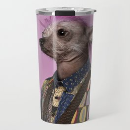 Punk Chinese Crested Dog Travel Mug