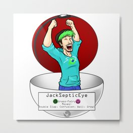 JackSepticEye! I choose you! Metal Print