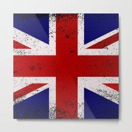 Grunge Union Jack Flag Metal Print