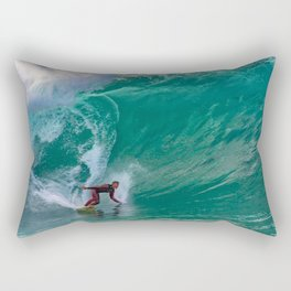 Surfing Double Overhead at the Wedge Rectangular Pillow
