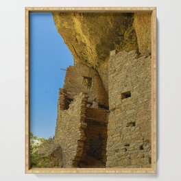 Multi-Storied Building at Mesa Verde Cliff Dwellings Serving Tray
