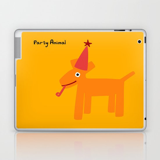 Party Animal-Orange Laptop & iPad Skin