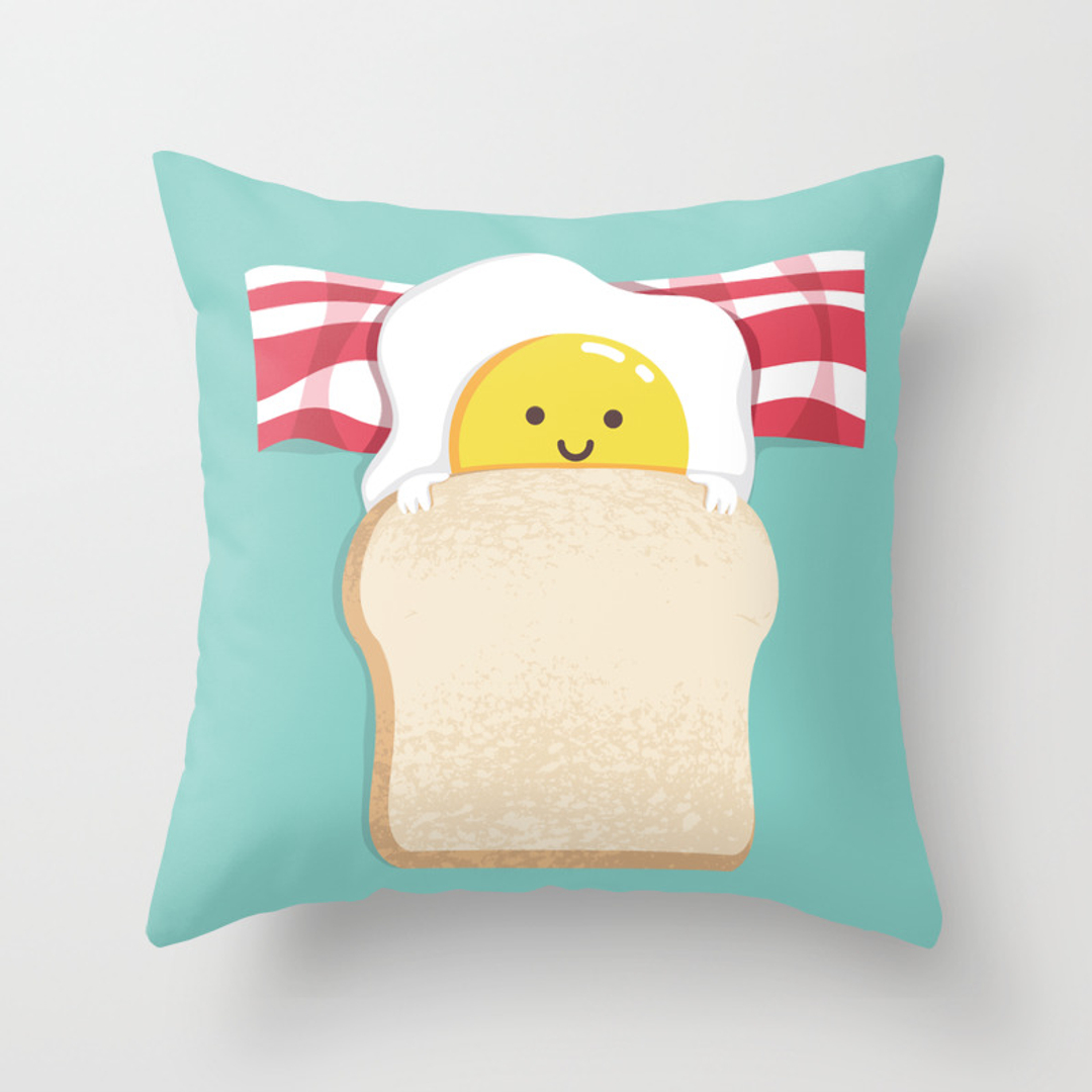 Bread, Donut and Prosthetic Throw Pillows   Society6