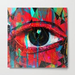 Useless Eyes Metal Print