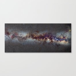 The Milky Way from Scorpio Antares and Sagitarius to North America Nebula in Cygnus Canvas Print