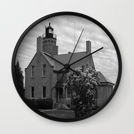 Old Mackinac Point Lighthouse Wall Clock