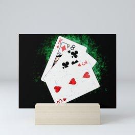 Blackjack Card Game, 21 Count, King Eight Three Combination Mini Art Print