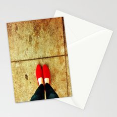 Bright Red Shoes Stationery Cards