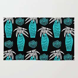 Palm Tree on Black Rug