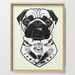 Dog - Tattooed Pug Serving Tray