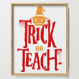 Halloween Shirt Gift for Teachers Funny Serving Tray