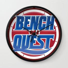 #BenchOnaQUEST Logo Apparel Wall Clock