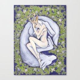 The White Doe Canvas Print