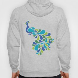 Retro Peacock Hoody