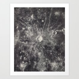 1934 Lunar Detail Art Print