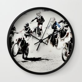 The Race is On  - Motocross Racers Wall Clock