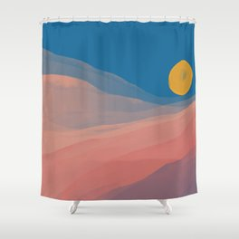 Somewhere Between Dusk And Dawn Shower Curtain