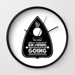 Sweet Ouija Planchette (Black on White) Wall Clock