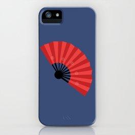 Japanese hand fan art iPhone Case