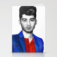 zayn malik Stationery Cards featuring Zayn Malik by jsanmateo