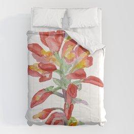 Indian Paintbrush Wildflower Watercolor Comforters