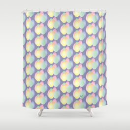 Easter eggs pattern on purple Shower Curtain