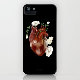 Blossoming heart iPhone Case