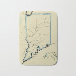 Vintage Map of Indiana (1823) Bath Mat