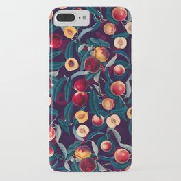 Nectarine and Leaf pattern iPhone Case