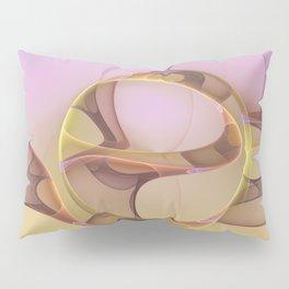 Abstract Motions, Modern Fractal Art Pillow Sham