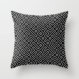 straight labyrinth Throw Pillow