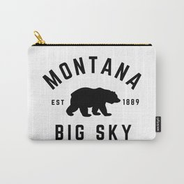 Montana Grizzly Bear Big Sky Country Established 1889 Vintage Carry-All Pouch
