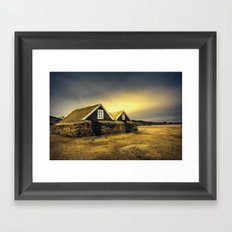 Old Huts Framed Art Print