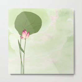 Survive like a lotus flower, rising from the muc Metal Print