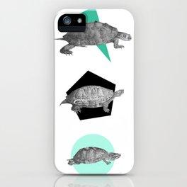 Three Old Turtles iPhone Case