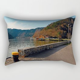 Sunny afternoon at the harbour | landscape photography Rectangular Pillow