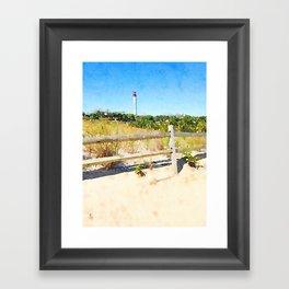 """Cape May Lighthouse"" Framed Art Print"
