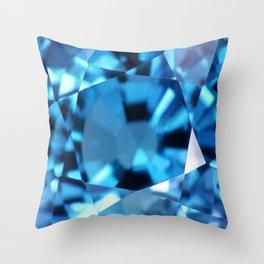 LONDON BLUE TOPAZ GEM Throw Pillow