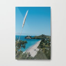 Cathedral Cove, New Zealand Metal Print