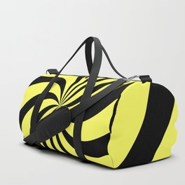 Spiral (Black & Yellow Pattern) Duffle Bag