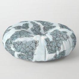 Doodle Clouds Floor Pillow