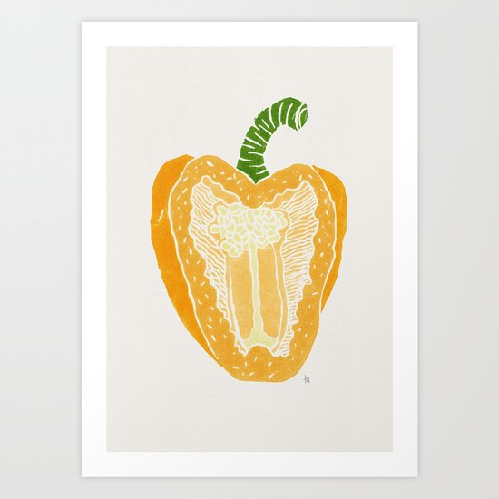 Yellow Pepper Art Print