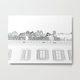 Tuscan Windows Metal Print