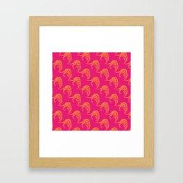 Wild Leopard Print Framed Art Print