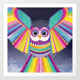 Shanti Sparrow: Aurora the Owl Art Print