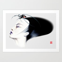 Retro Muse / 6 Art Print