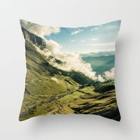 wander Throw Pillows featuring Wander by StayWild